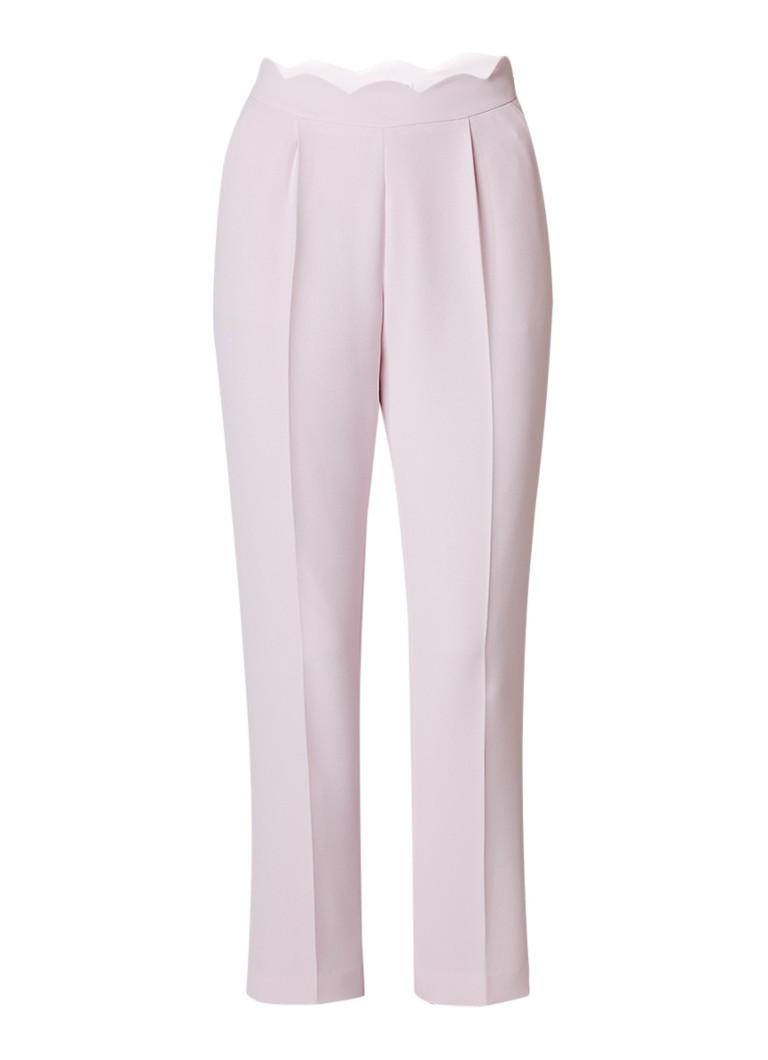 Claudie Pierlot Pampille slim fit pantalon met geschulpte taille