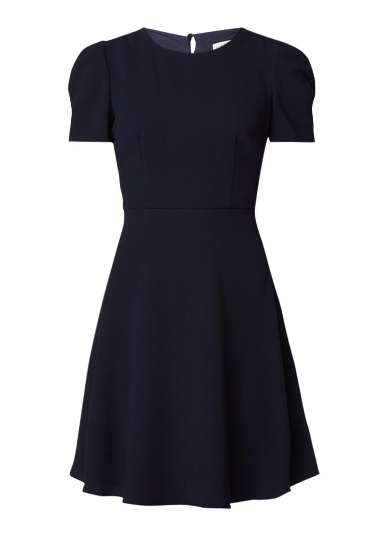 Claudie Pierlot Romiloa A-lijn jurk met rugdecolleté donkerblauw