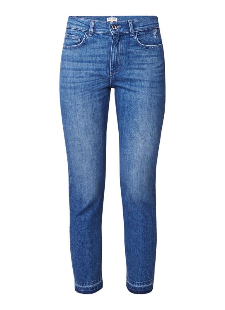 Claudie Pierlot Patisson high rise cropped slim fit jeans met gerafelde zoom