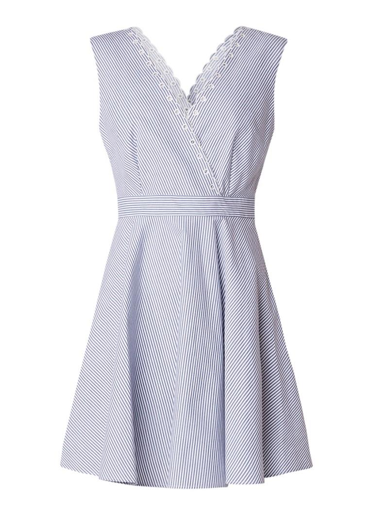 Claudie Pierlot Raleuse A-lijn jurk met strik aan de achterzijde lichtroze