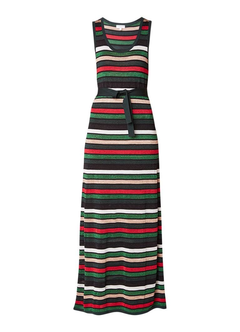 Claudie Pierlot Magique maxi-jurk met strikceintuur en lurex groen