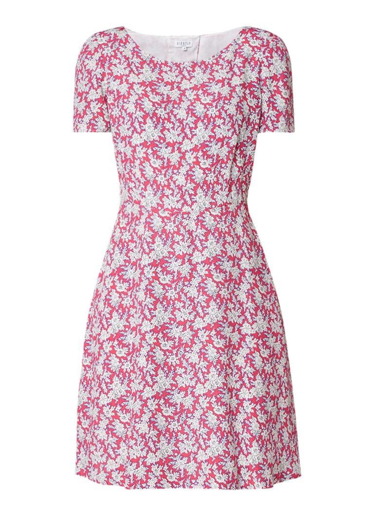 Claudie Pierlot Rufino A-lijn midi-jurk met cut-out detail donkerroze