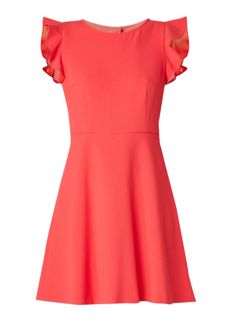 Claudie Pierlot Rapsodie A-lijn jurk met rugdecolleté rood