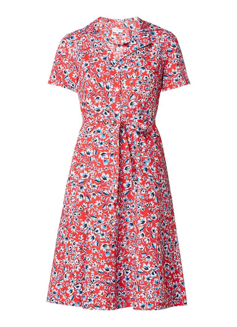 Claudie Pierlot Rolly blousejurk met bloemendessin rood