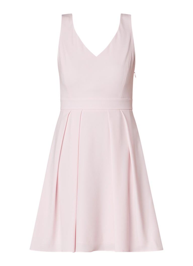 Claudie Pierlot Recontre A-lijn jurk met strik aan achterzijde lichtroze