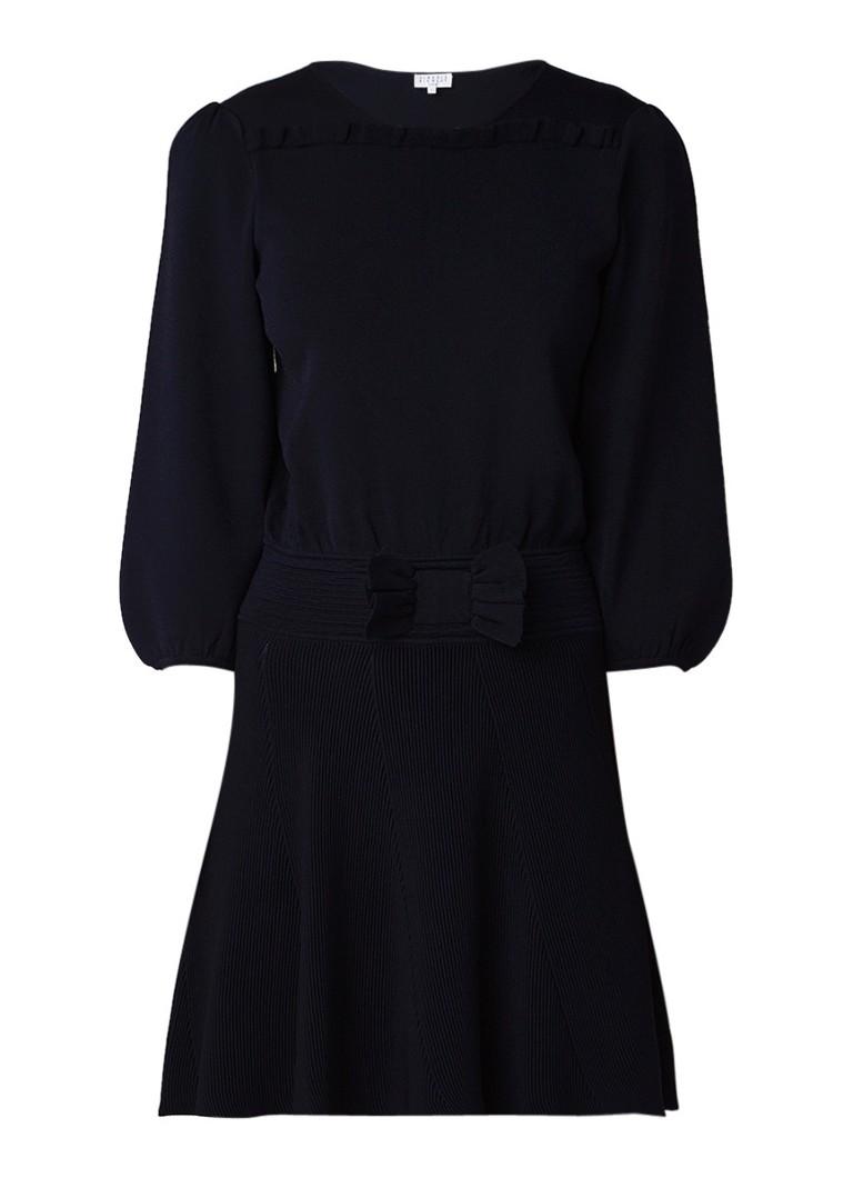 Claudie Pierlot Moonlight fijngebreide A-lijn jurk donkerblauw