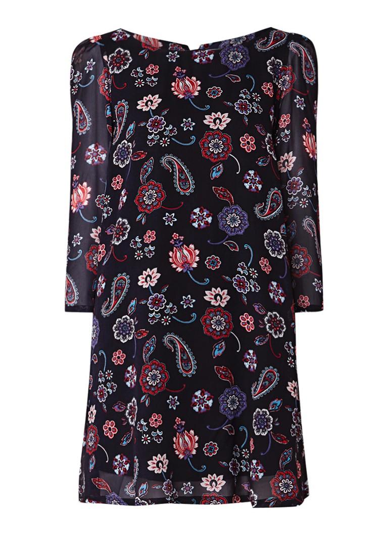 Claudie Pierlot Rififi A-lijn jurk met paisleydessin donkerblauw