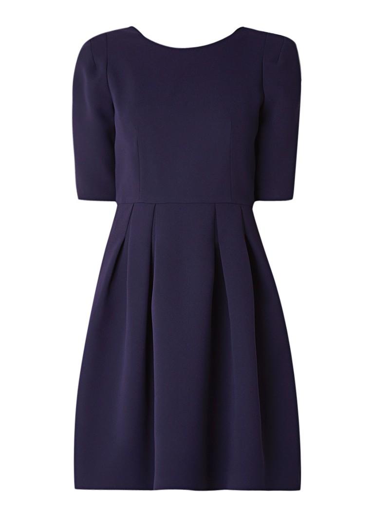 Claudie Pierlot Roller midi-jurk van crêpe met plooien donkerblauw