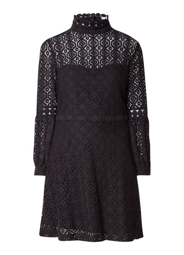 Claudie Pierlot Romeo A-lijn jurk met broderie zwart