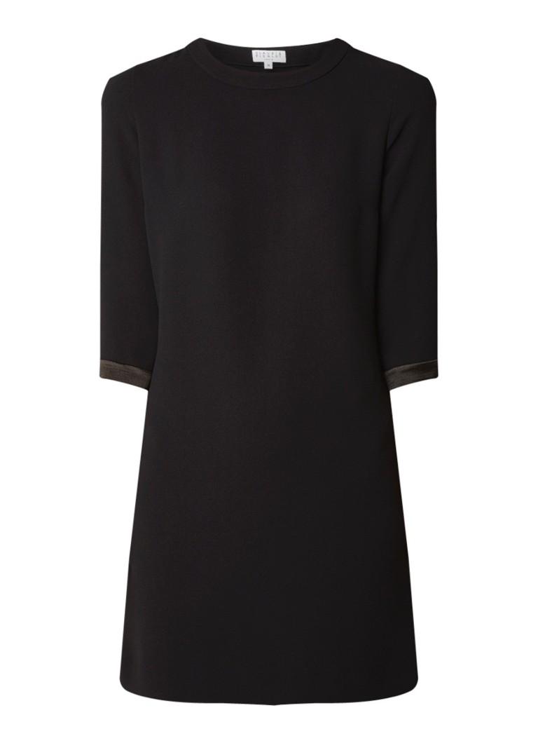 Claudie Pierlot Ribambelle loose fit mini-jurk met geplisseerd achterpand zwart