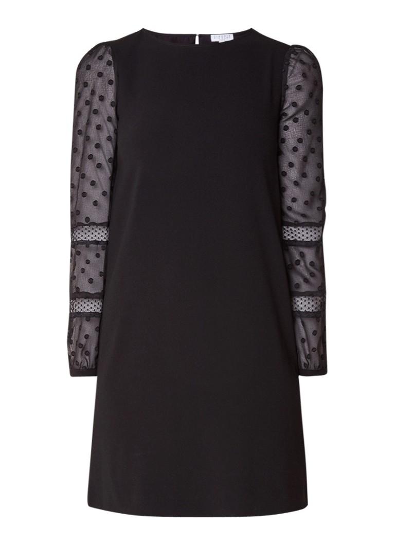 Claudie Pierlot Reverence mini-jurk met semi-transparante mouw zwart