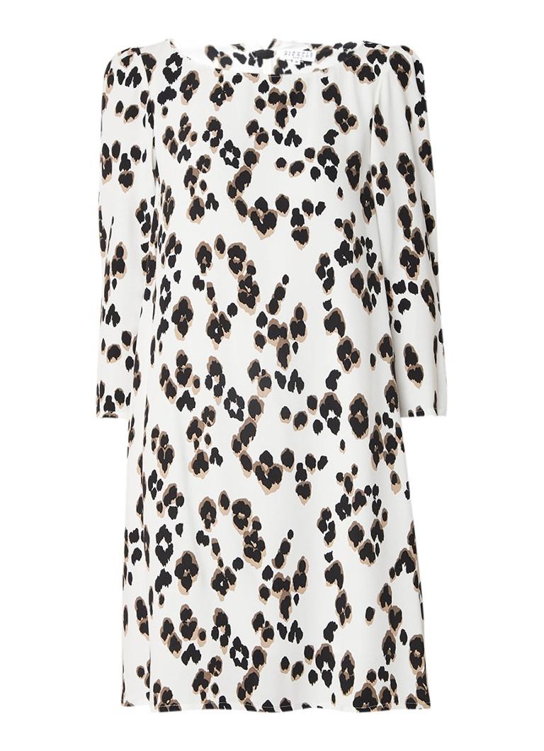 Claudie Pierlot Rififi A-lijn mini-jurk met luipaarddessin gebroken wit