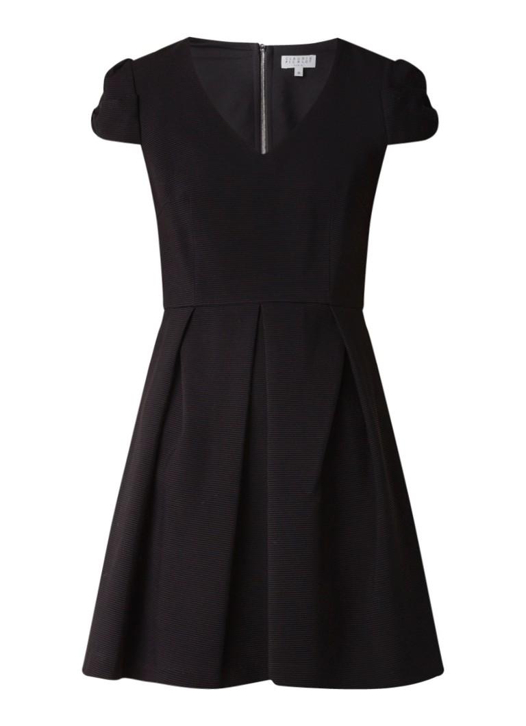 Claudie Pierlot Regular mini A-lijn jurk met structuur zwart
