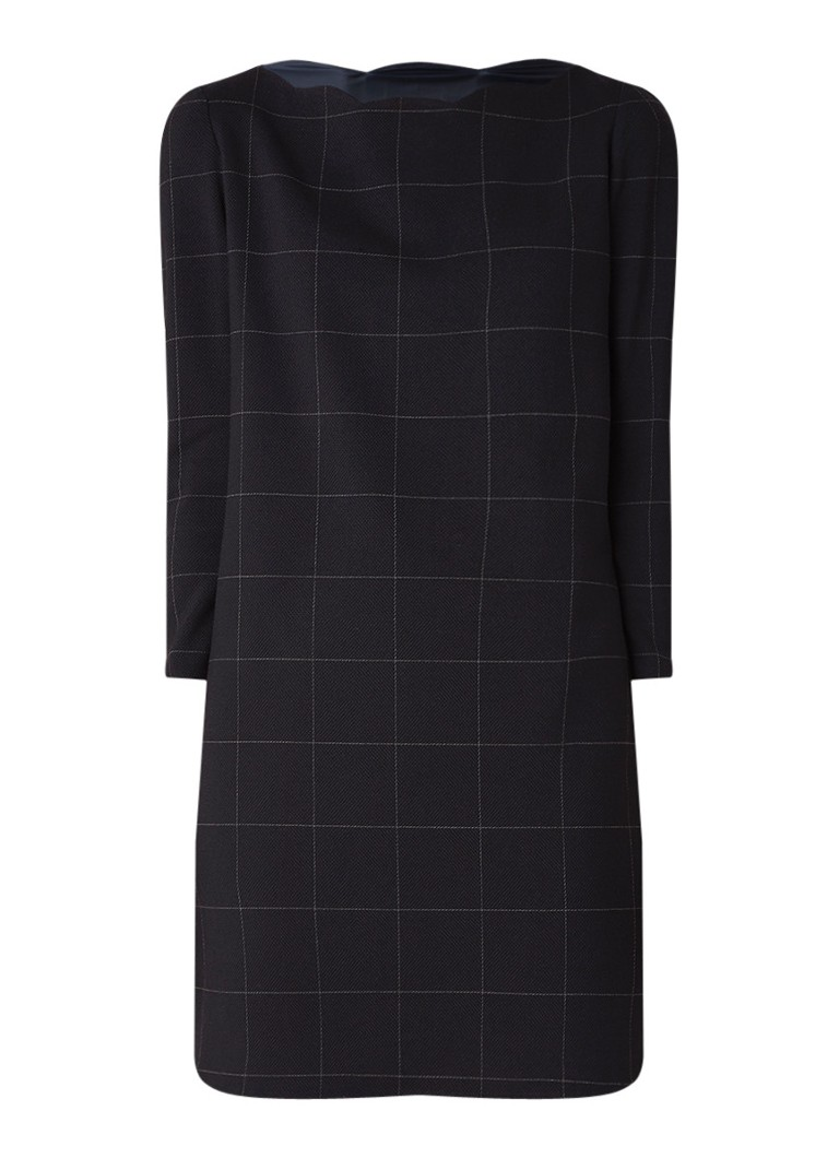 Claudie Pierlot Rover loose fit mini-jurk met ruitdessin donkerblauw