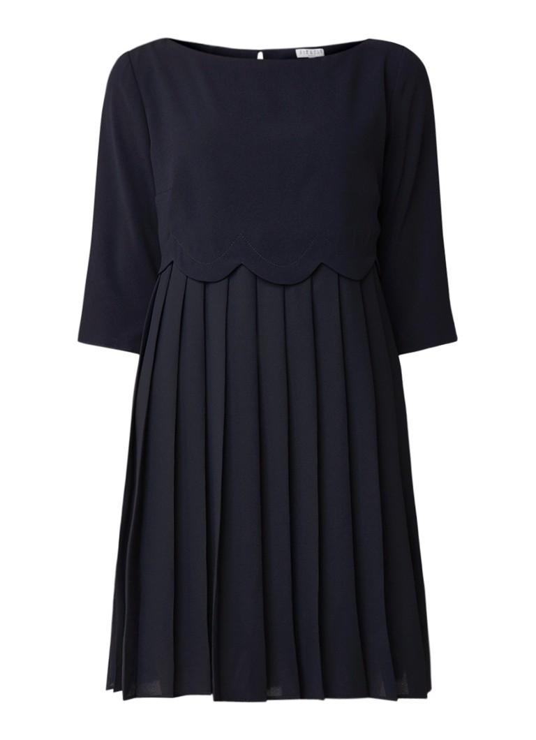 Claudie Pierlot Losvallende mini-jurk met plissé donkerblauw