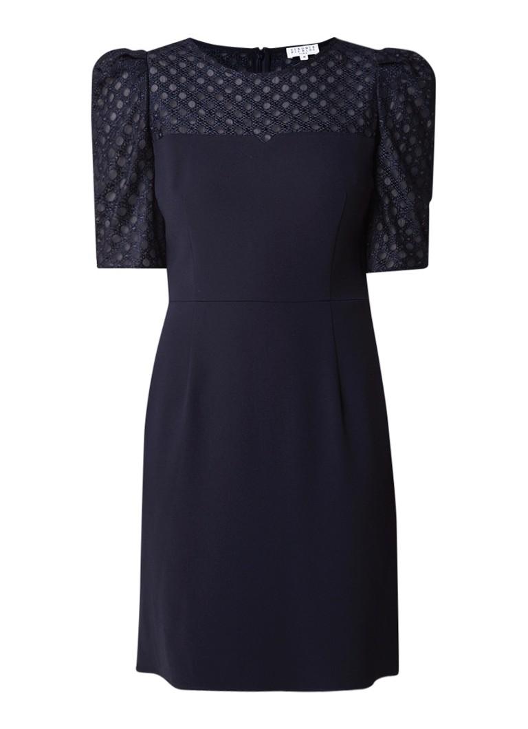 Claudie Pierlot Respect mini-jurk met inzet van kant donkerblauw