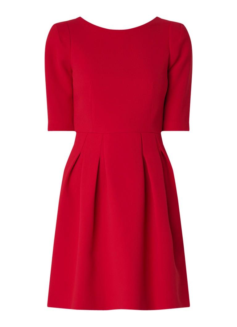 Claudie Pierlot Roller midi-jurk van crêpe met plooien rood