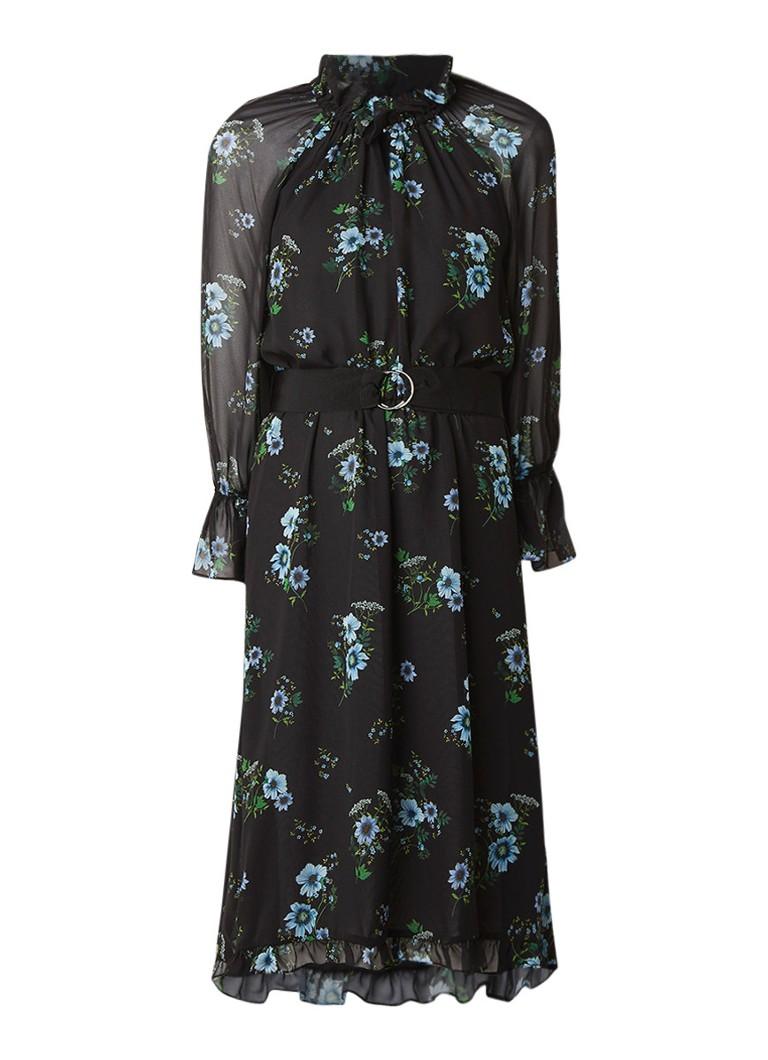 Claudie Pierlot Romilly asymmetrische A-lijn jurk van chiffon zwart