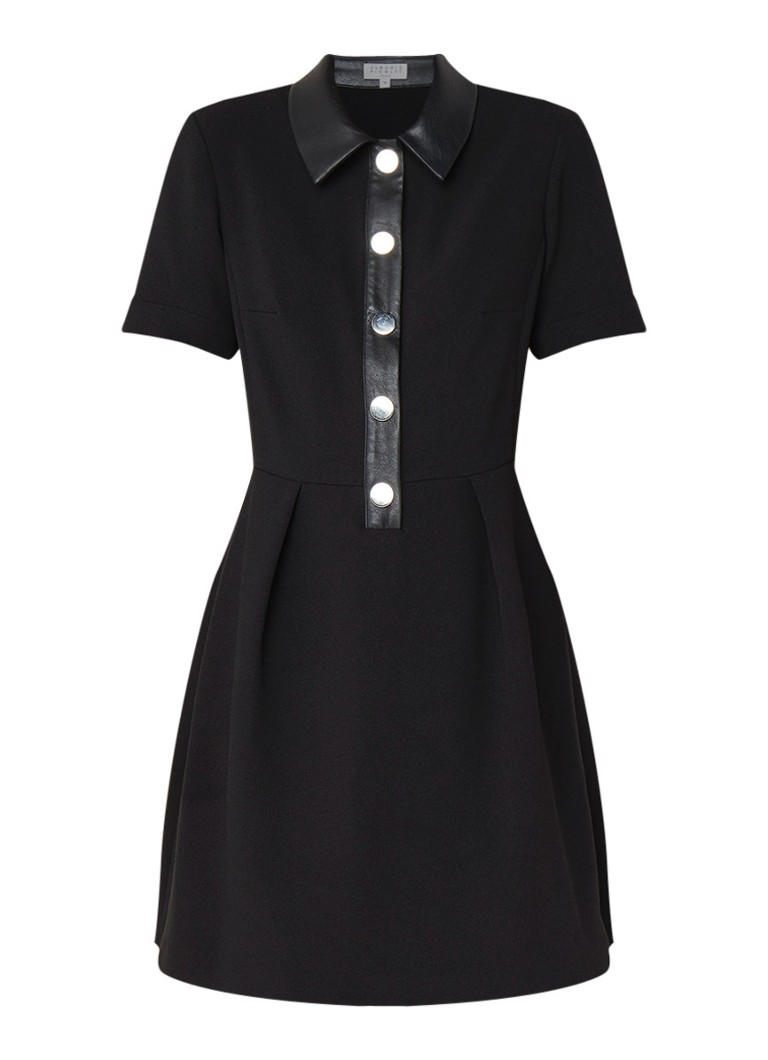 Claudie Pierlot Replay blousejurk van crêpe zwart