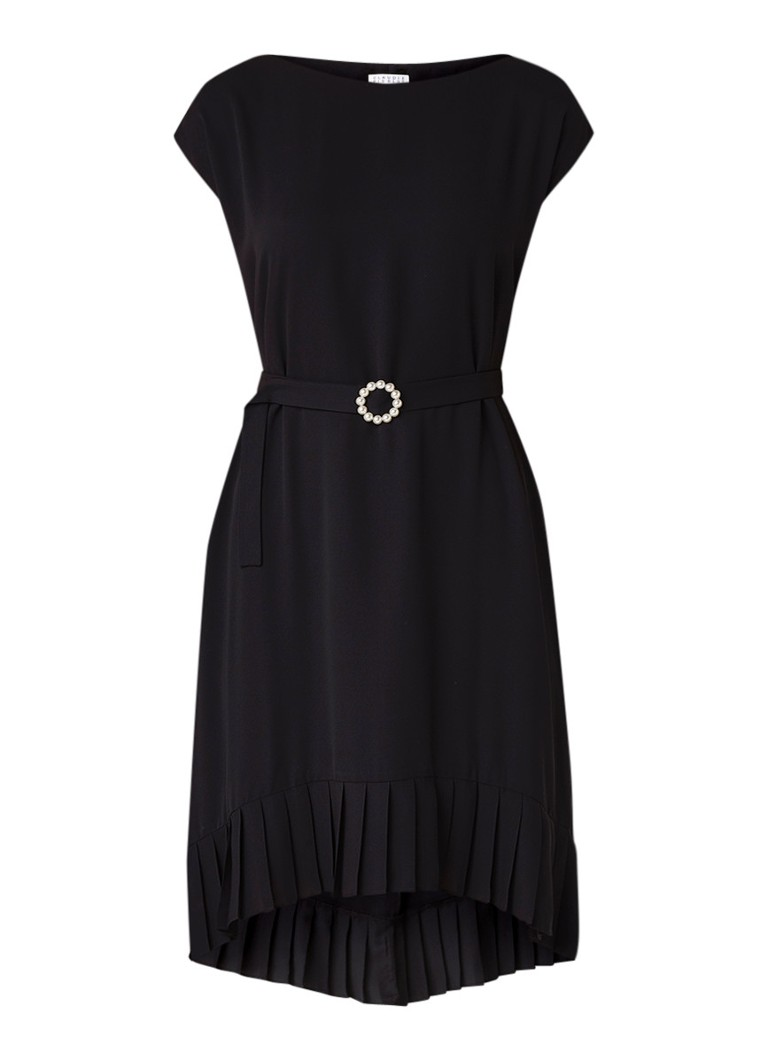 Claudie Pierlot Regard tuniekjurk met plissé zoom zwart