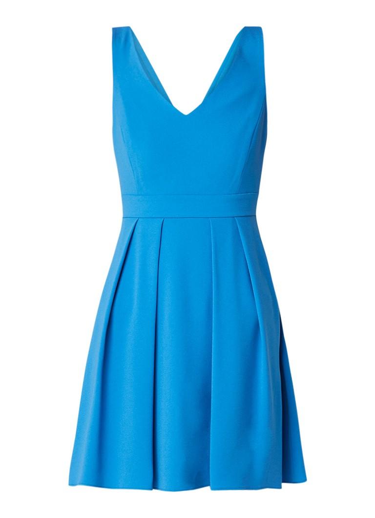 Claudie Pierlot Rencontre mini A-lijn jurk met strik aan achterzijde aquablauw