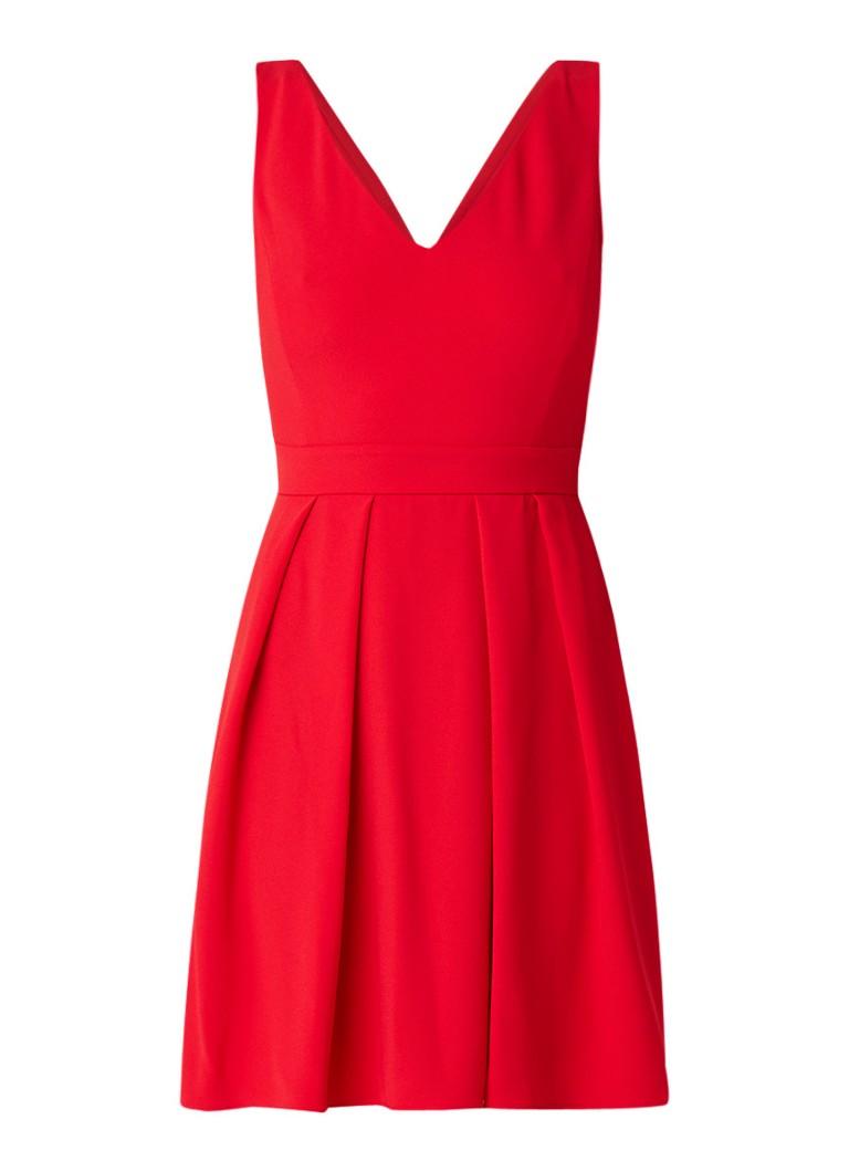 Claudie Pierlot Rencontre mini A-lijn jurk met strik aan achterzijde rood