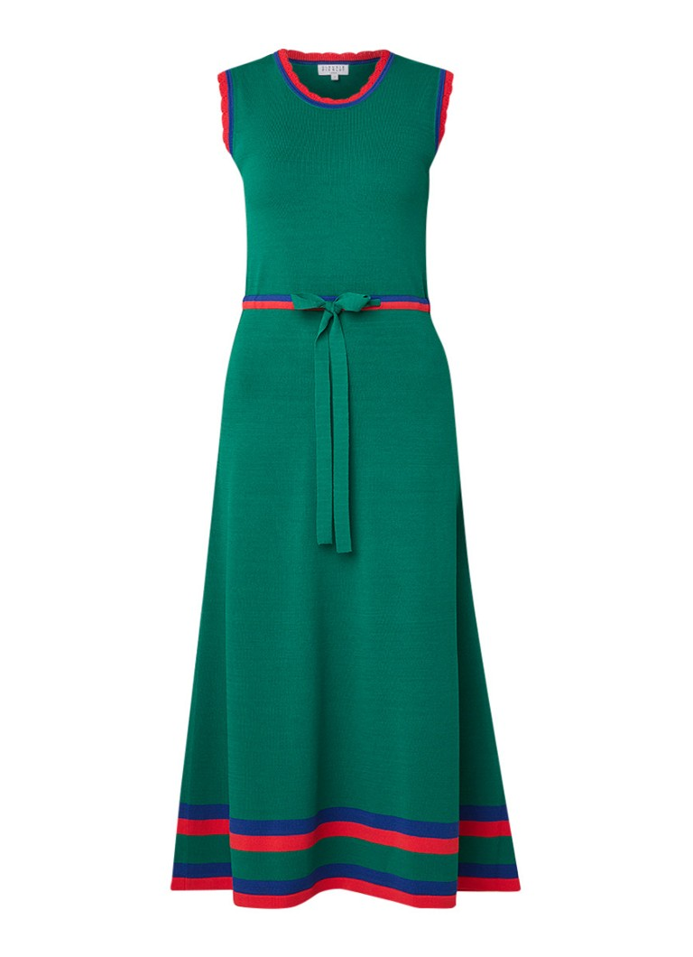 Claudie Pierlot Melisse fijngebreide maxi-jurk met trekkoord groen