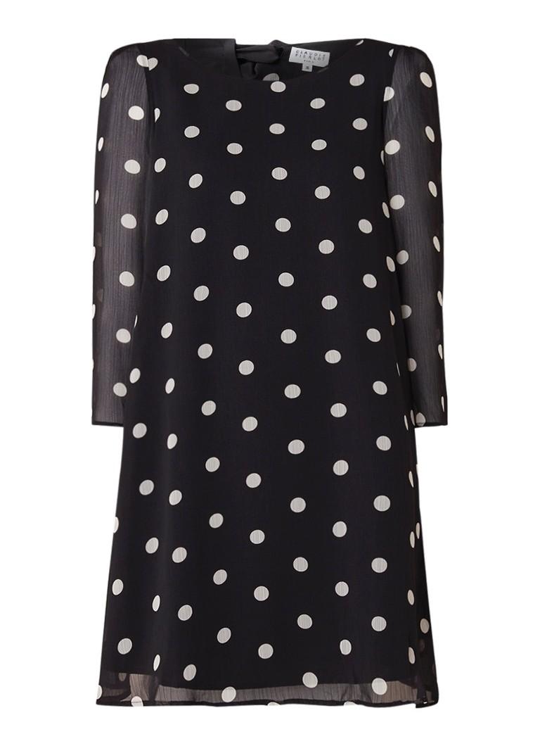 Claudie Pierlot Rififi mini-jurk met stippendessin zwart
