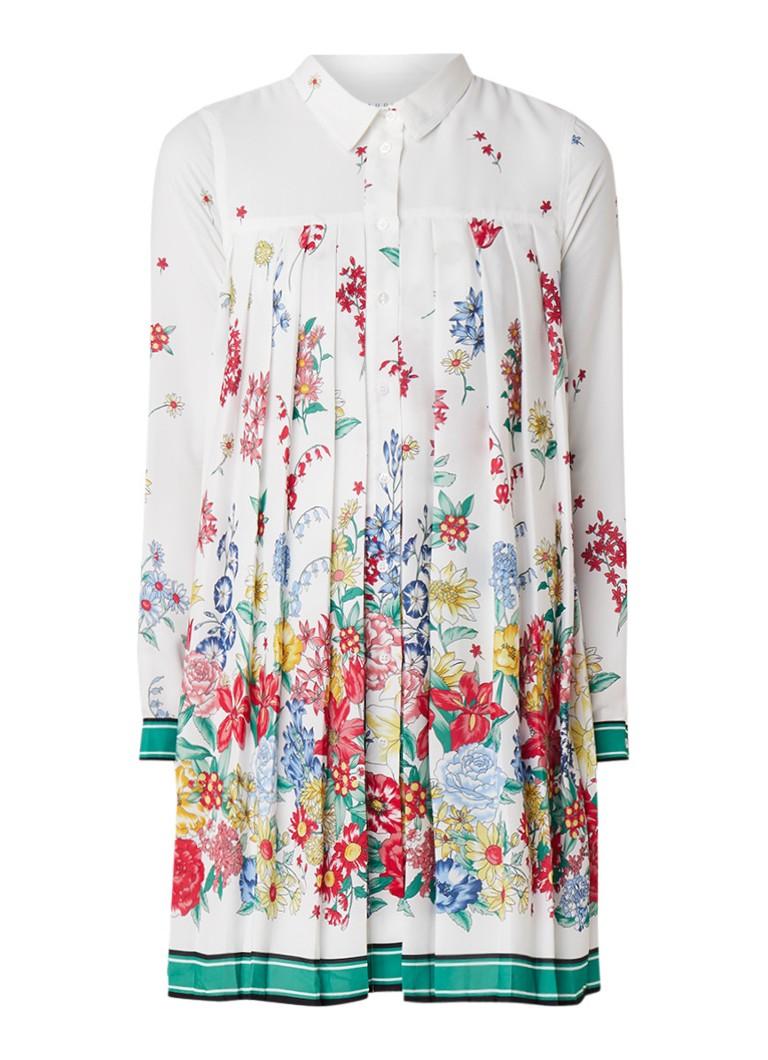 Claudie Pierlot Ramses blousejurk met bloemenprint wit