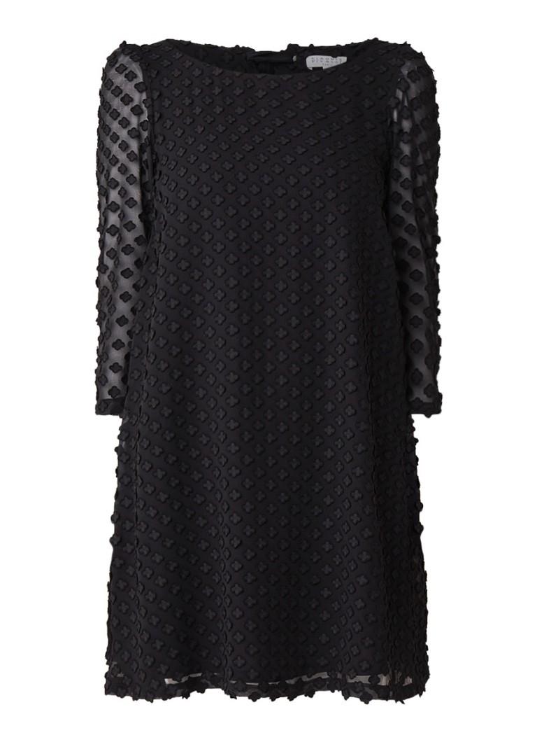 Claudie Pierlot Rififi mini-jurk met dessin zwart