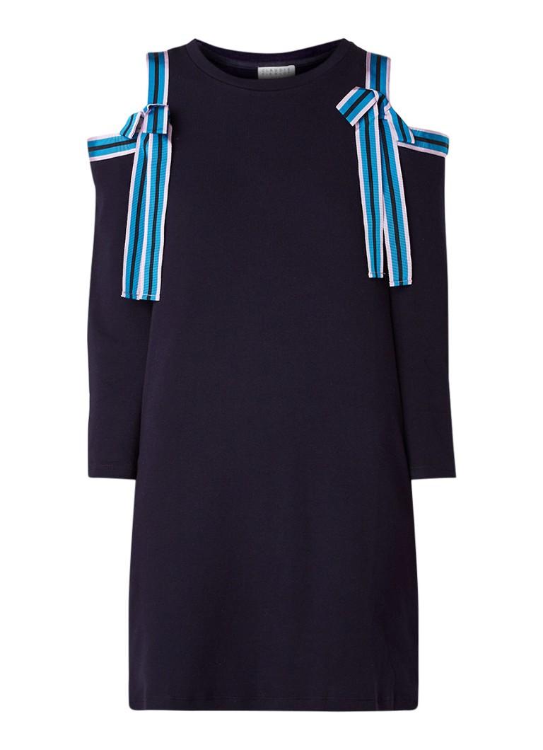 Claudie Pierlot Troop mini-jurk van katoen met strikdetail donkerblauw