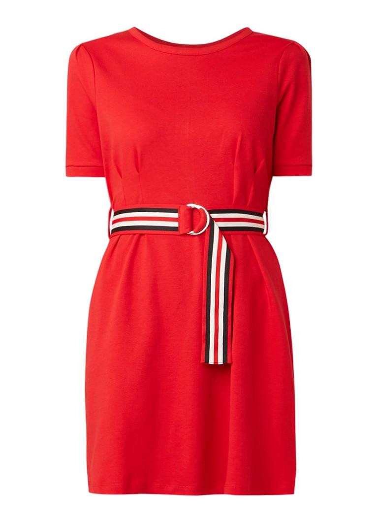 Claudie Pierlot Timini T-shirt jurk met ceintuur rood