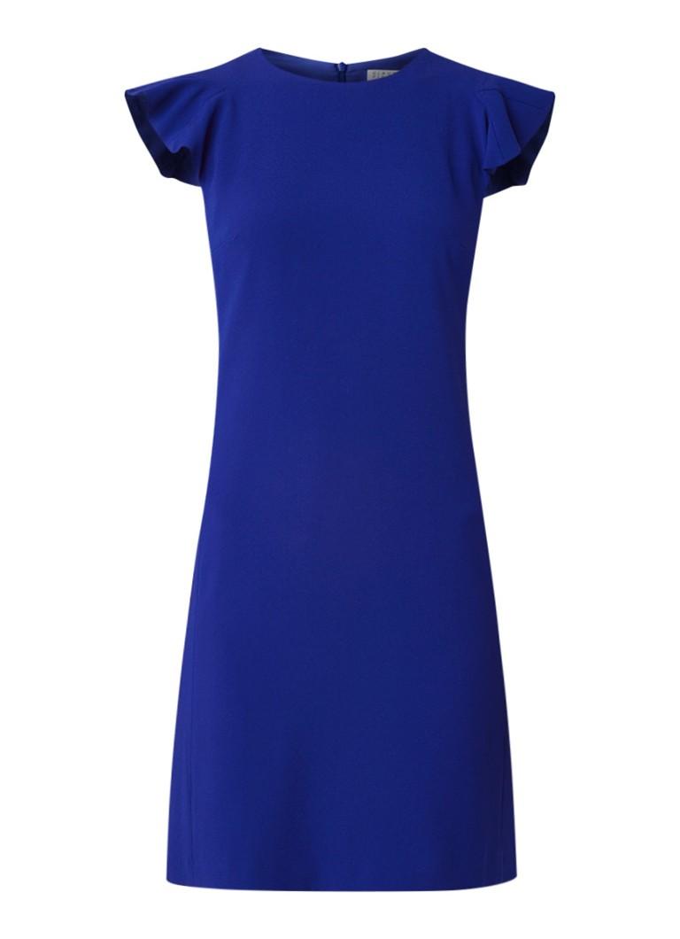 Claudie Pierlot Roquette jurk van crêpe met volant kobaltblauw