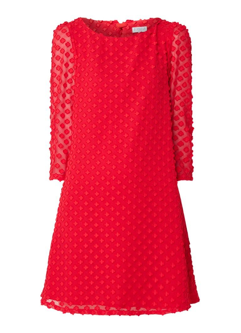 Claudie Pierlot Rififi mini-jurk met dessin rood