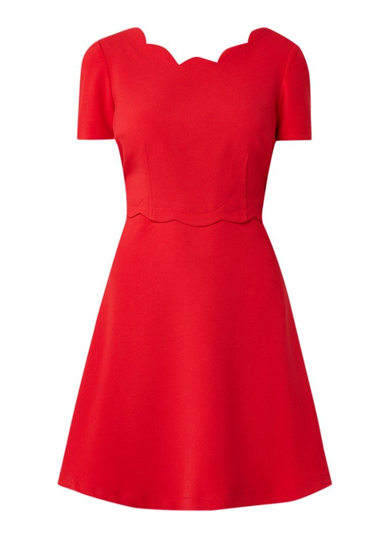 Claudie Pierlot Remi Ecarlate A-lijn jurk van crêpe met rugdecolleté rood