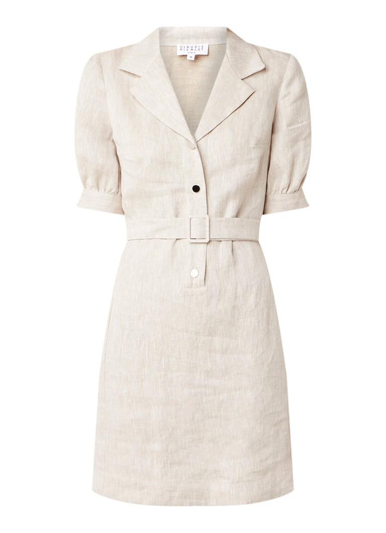 Claudie Pierlot Rosea blousejurk van linnen beige