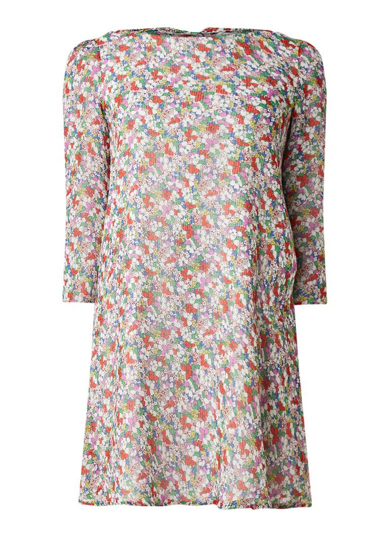 Claudie Pierlot Rififi A-lijn jurk met bloemendessin multicolor
