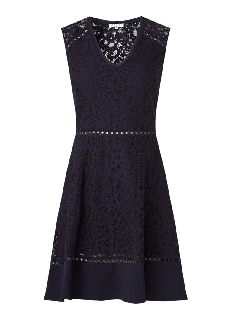 Claudie Pierlot Rikki A-lijn jurk van kant donkerblauw