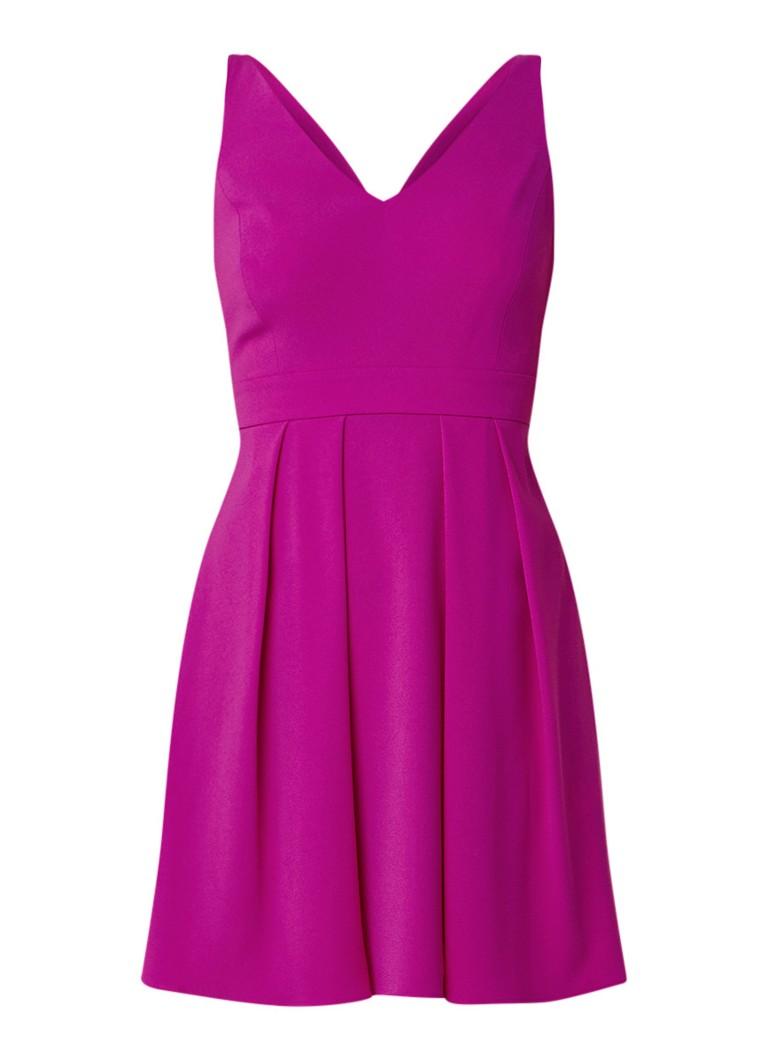 Claudie Pierlot Rencontre mini A-lijn jurk met strik aan achterzijde fuchsia