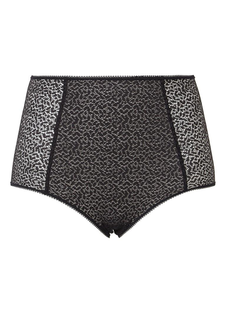 DKNY Modern Lace slip van kant met hoge taille