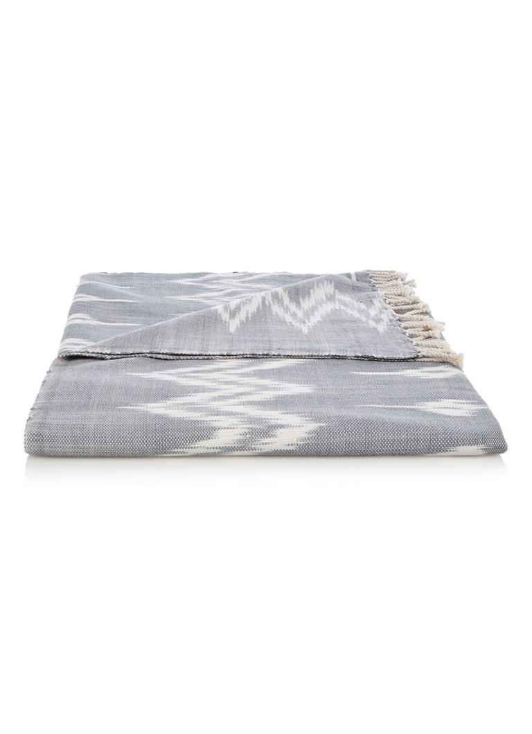 Yuyu Ikat plaid van katoen 220 x 110 cm