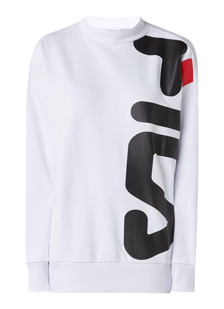 Fila Oversized sweater met lage col en logoprint