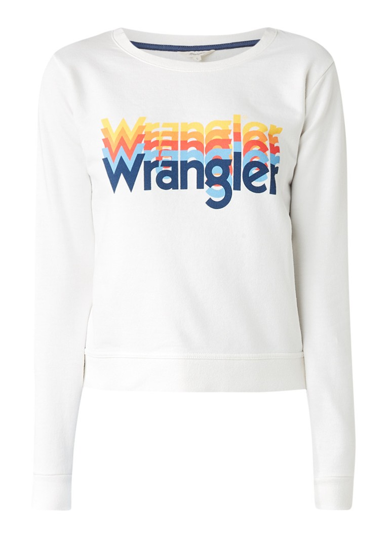 Wrangler Rainbow sweater met logoprint