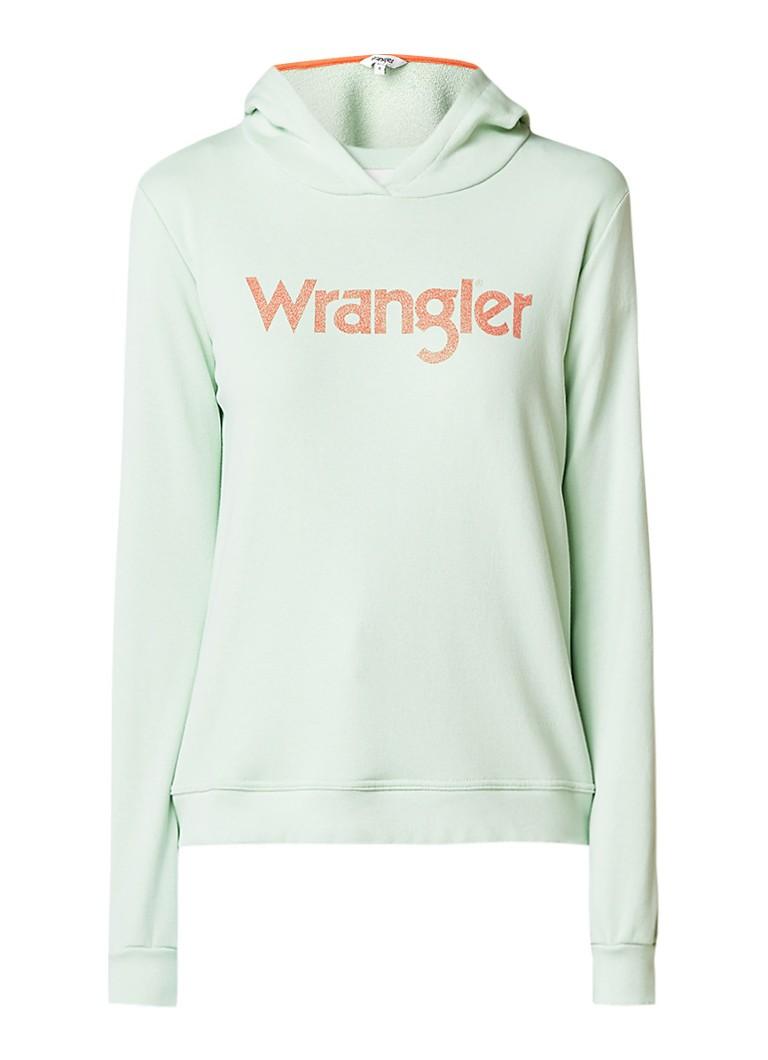 Wrangler Retro kabel hoodie met logoprint