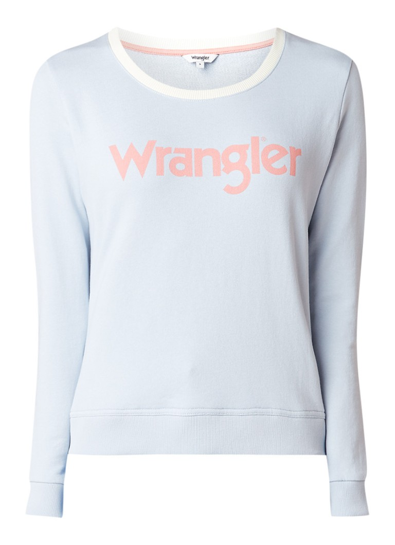 Wrangler Retro kabel sweater met logoprint