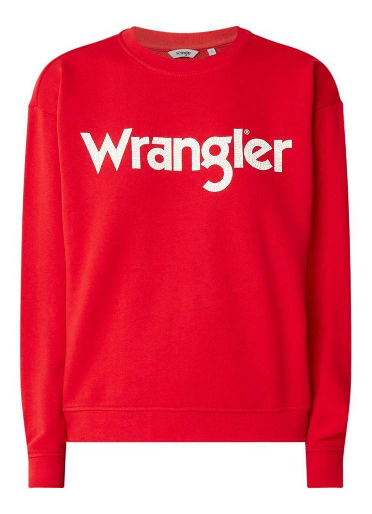Wrangler Sweater met logo-opdruk