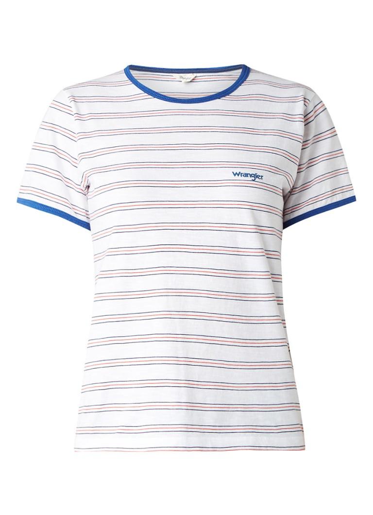Wrangler T-shirt van katoen met streepdessin