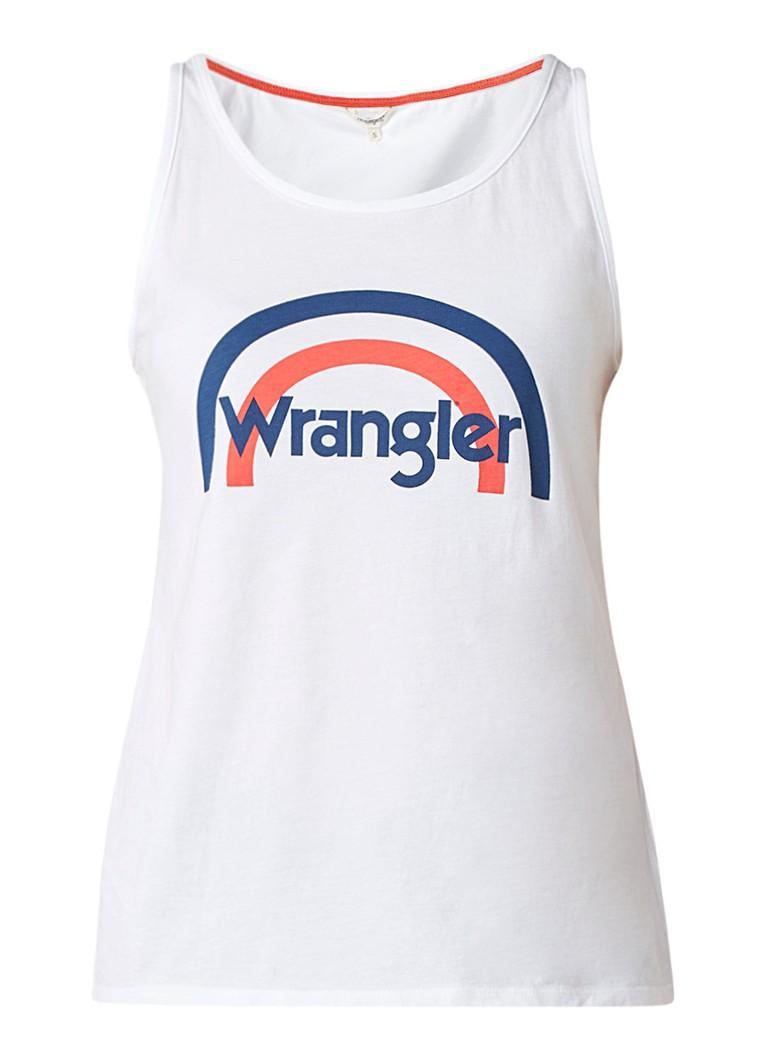 Wrangler Rainbow tanktop met logoprint