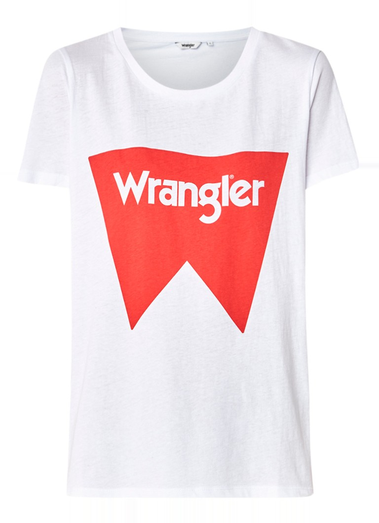 Wrangler T-shirt met logoprint