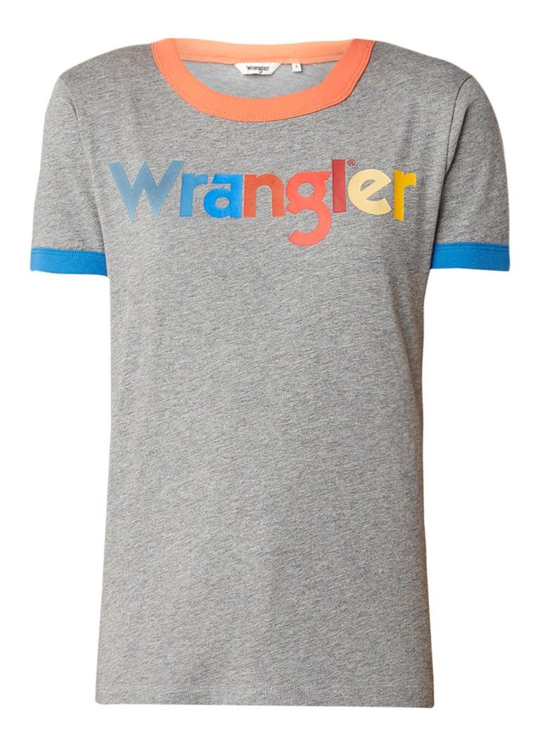 Wrangler Ringer T-shirt met logoprint